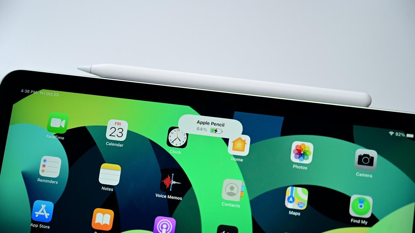 Apple  Lápiz 2 en iPad Air