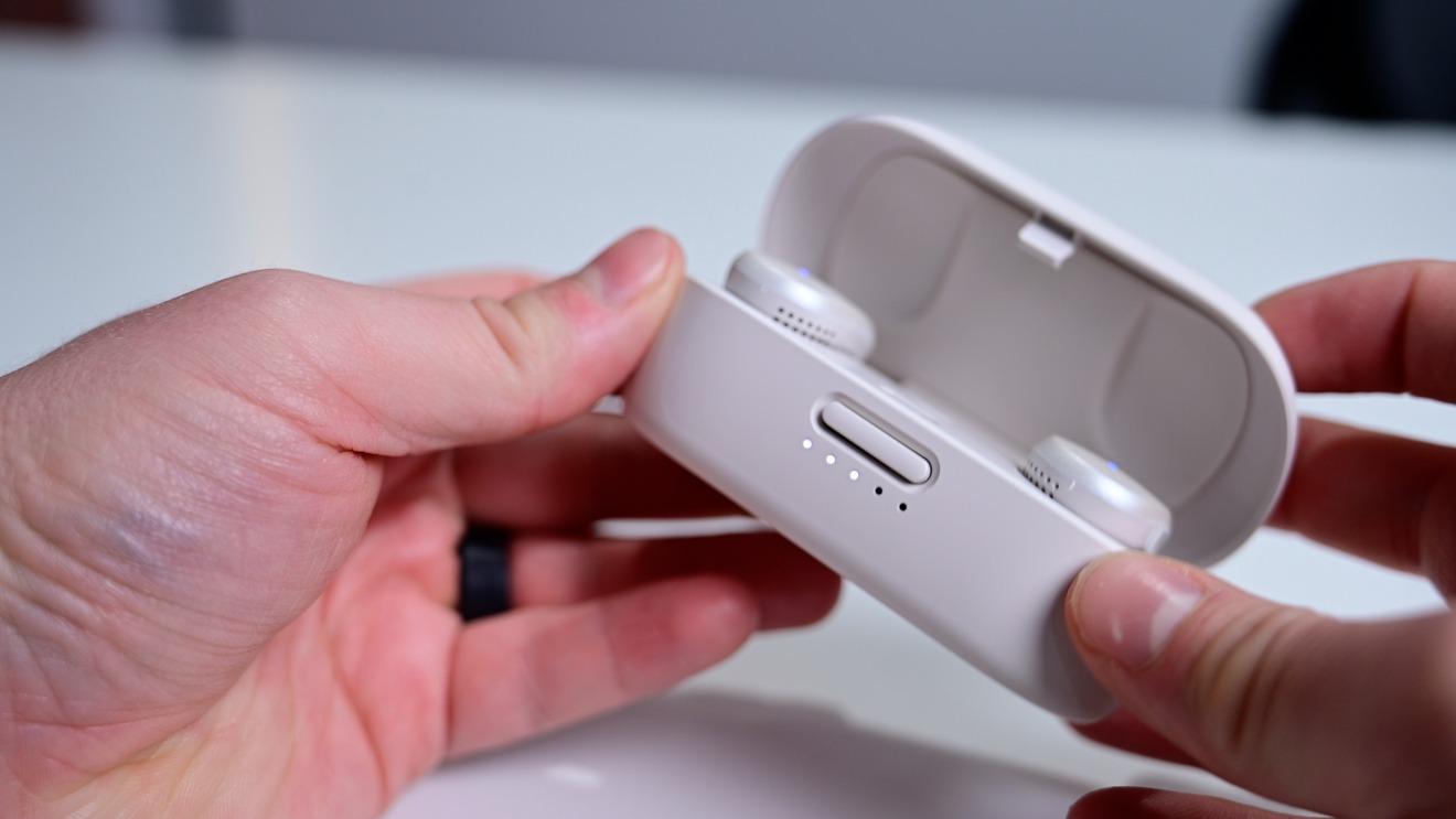 Indicadores de batería Bose QuietComfort