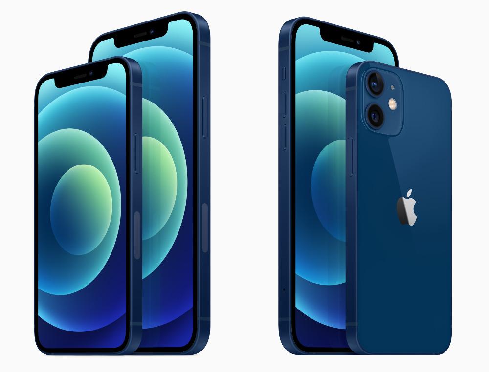 El iphone 12 y iPhone 12 mini tamaños comparados