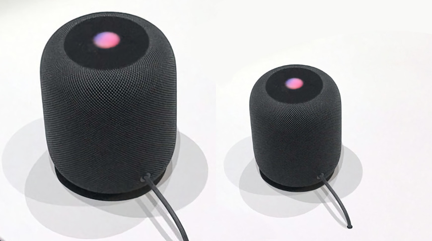 Los rumores afirman que un nuevo HomePod tendrá la mitad del tamaño del original.