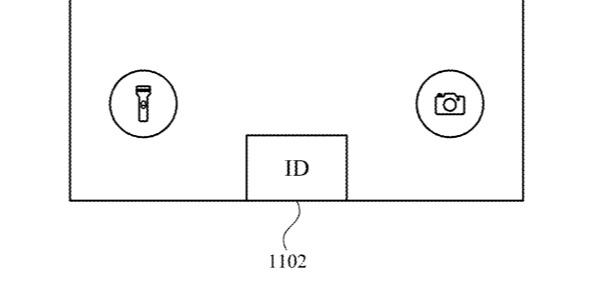 Detalle de la patente que muestra una posición sugerida para un iPhone ID botón