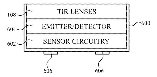 Una pila potencial de componentes utilizados en el sensor de partículas.