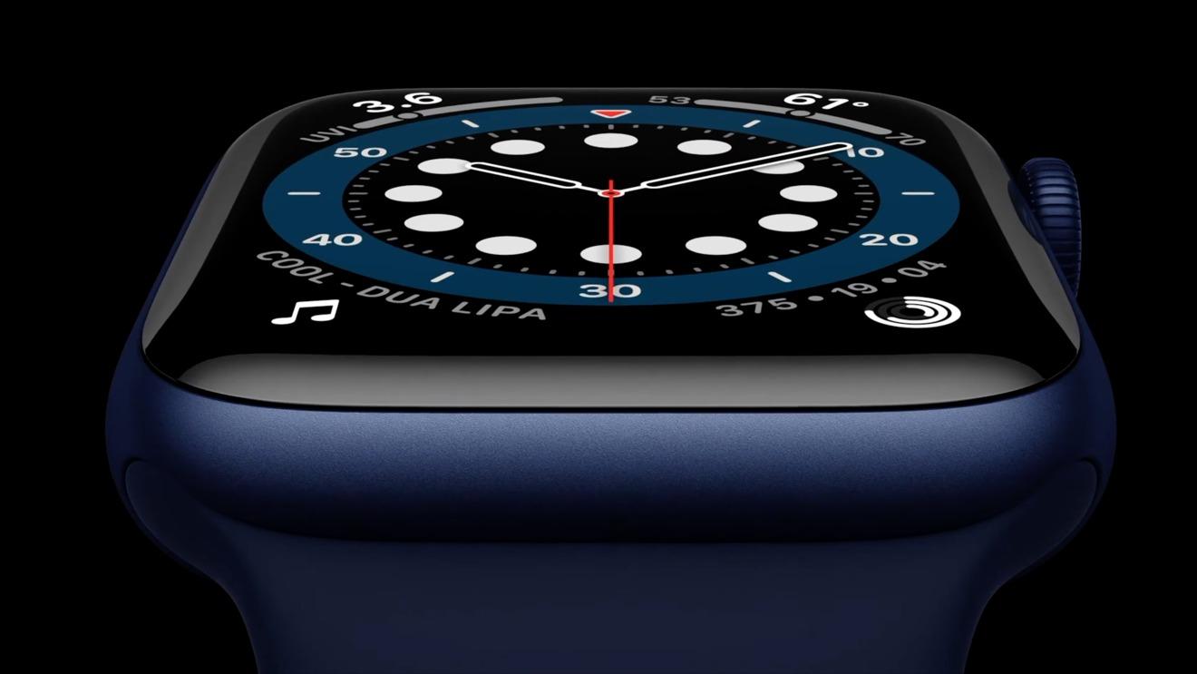 Apple Watch  Serie 6 en azul con Solo Loop negro