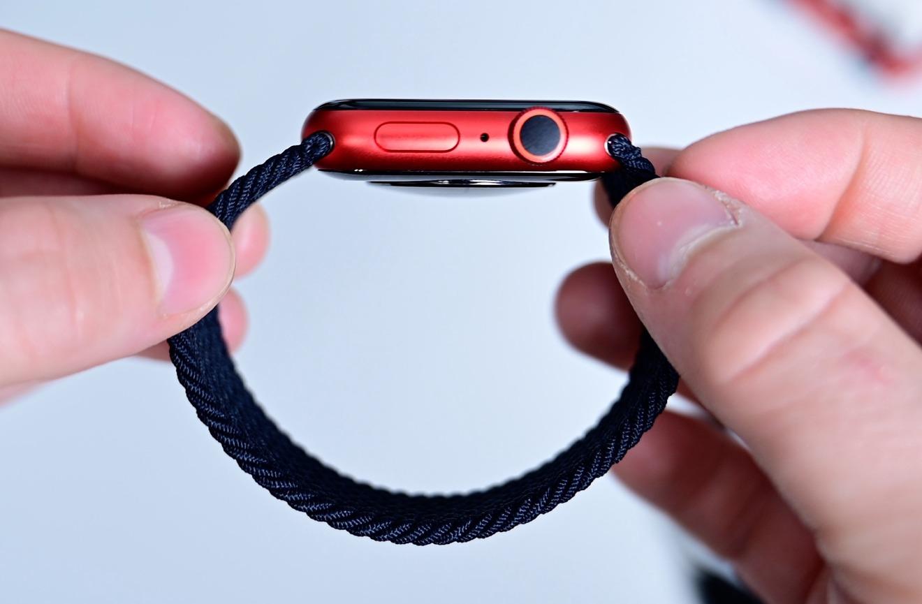 Solo Loop negro encendido Apple Watch Serie 6