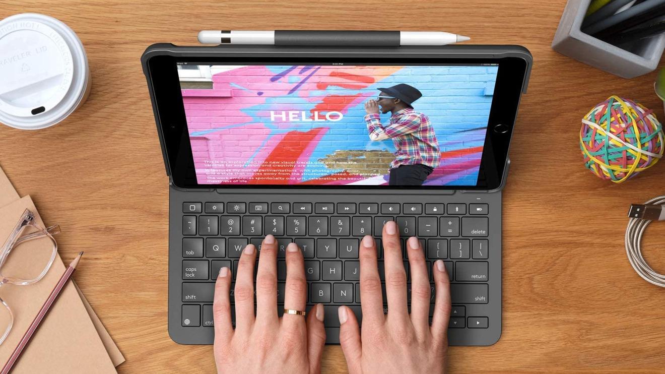 El estuche Logitech Slim Folio tiene un teclado incorporado