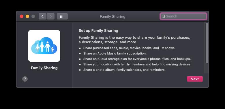 Cómo configurar Compartir en familia en una Mac