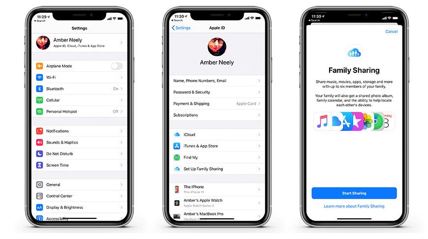 Cómo configurar Compartir en familia en un iPhone, iPad o iPod touch