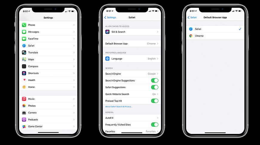 Cómo configurar Safari como navegador predeterminado en iOS 14