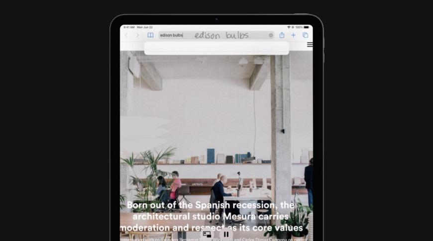 iPadOS 14 te permite escribir en cuadros de texto con Apple Lápiz