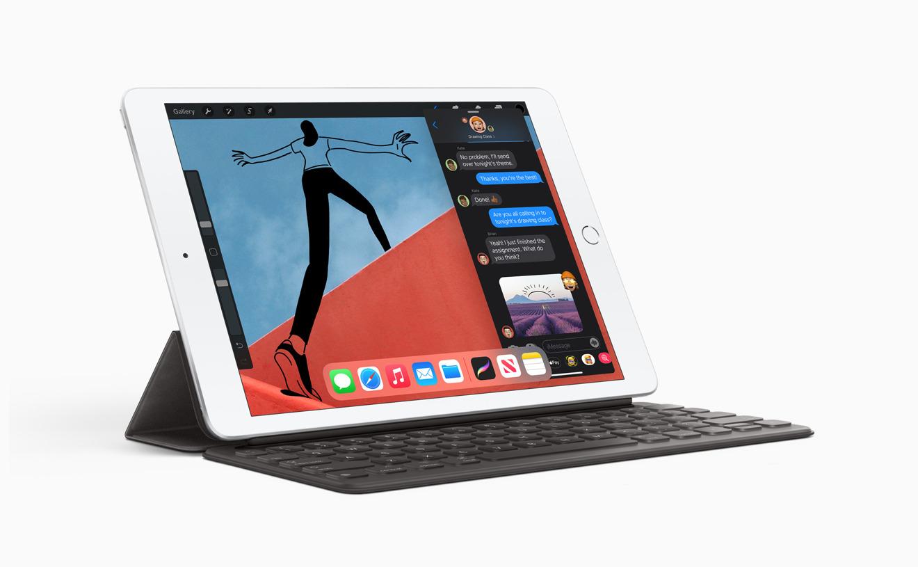 La compatibilidad con el teclado inteligente en el iPad 2020 hace que el trabajo en movimiento sea más atractivo