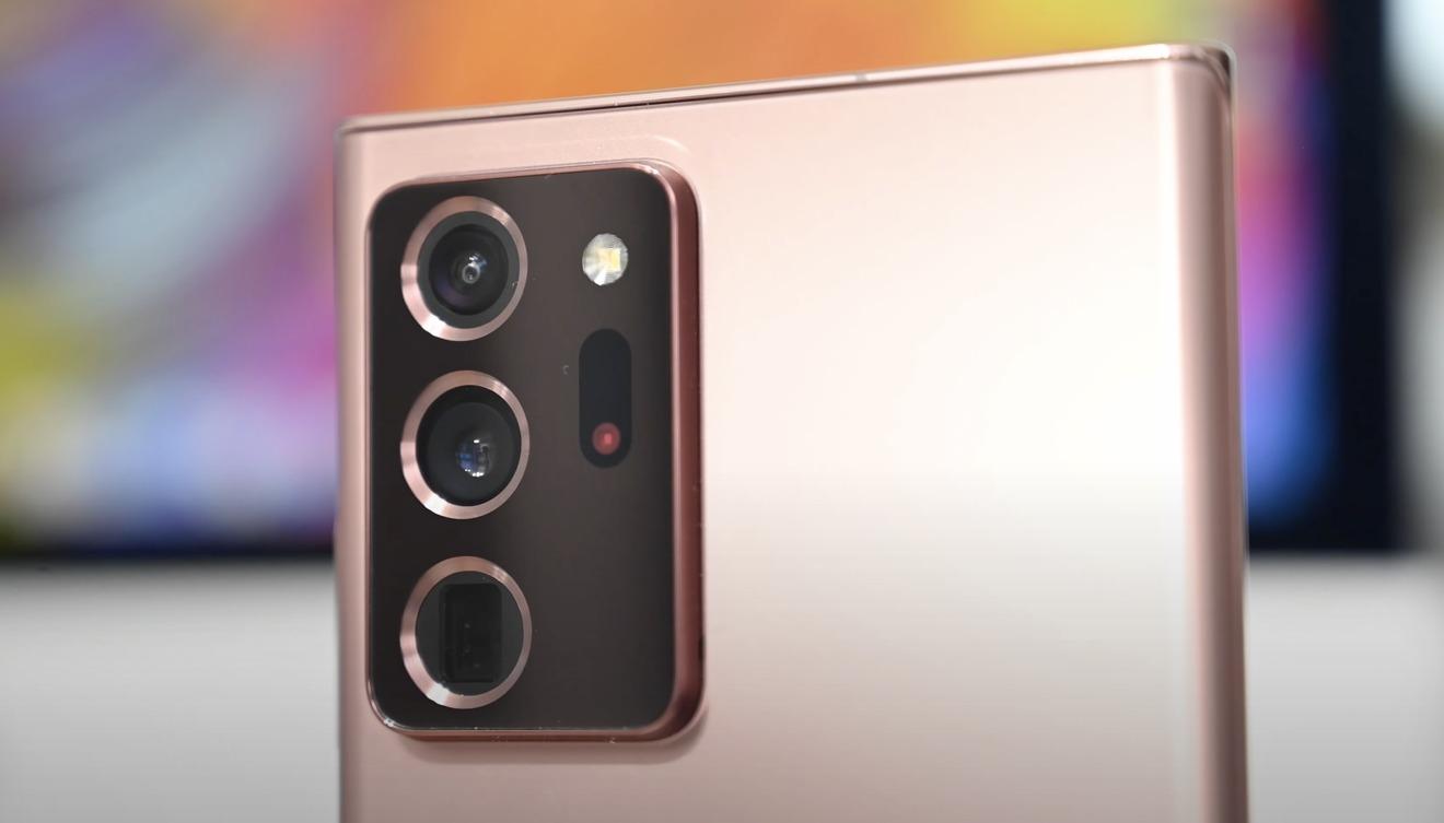 Samsung Galaxy Note 20  Ultra tiene un ultra ancho de 12 MP, un ancho de 108 MP y un teleobjetivo de 12 MP.