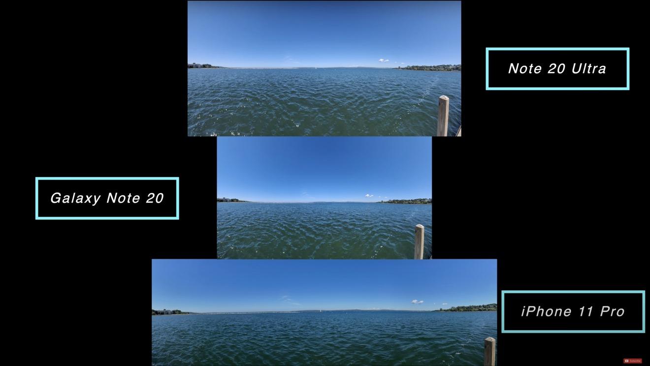 Las panorámicas tomadas con cada dispositivo producen fotos de diferentes tamaños