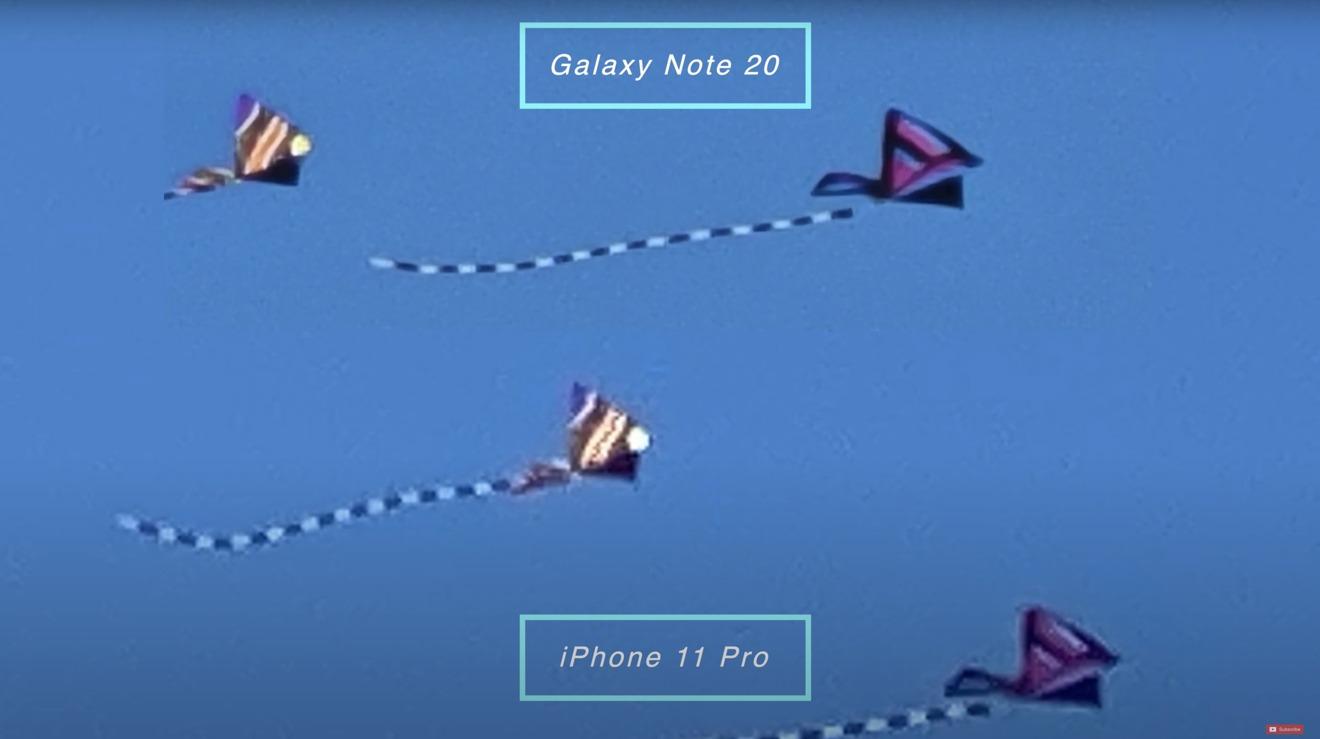 Note 20  a 30X en comparación con iPhone a 30X muestra qué tan adelantado está Samsung