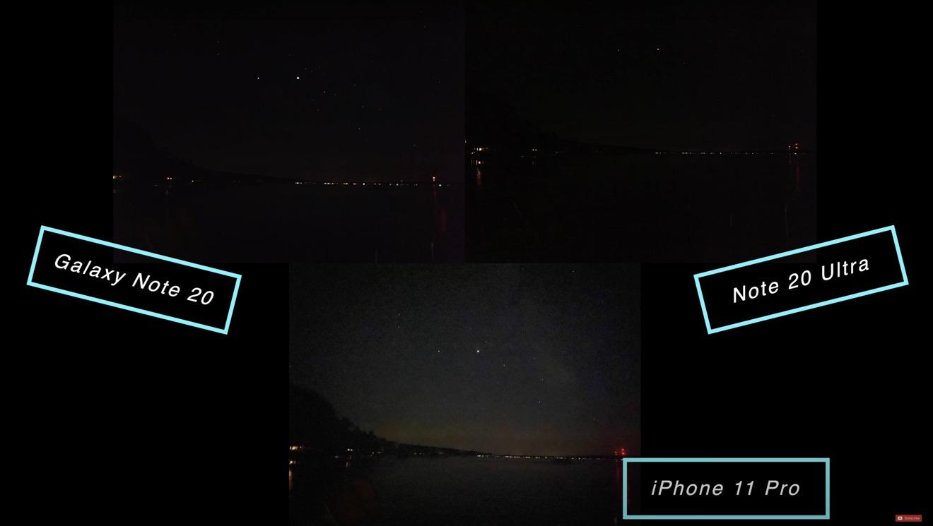 El cielo nocturno se veía bien, aunque el Ultra sesgó el balance de blancos