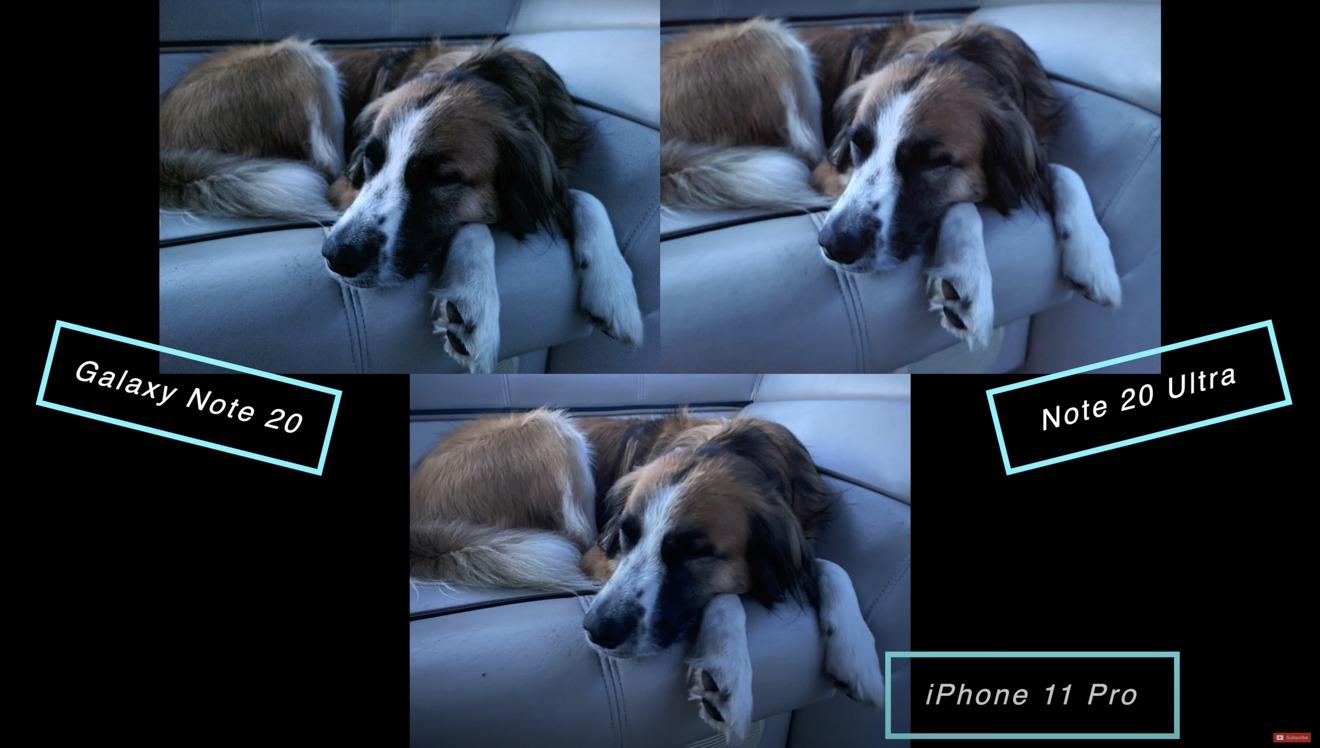 El iPhone tuvo un mejor rendimiento aquí con poca luz con más detalles en Mosby