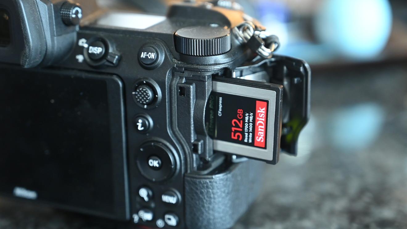 Tarjeta SanDisk Extreme Pro CFExpress en Nikon Z 7