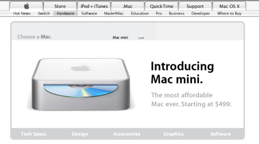 El primer Mac mini de 2005