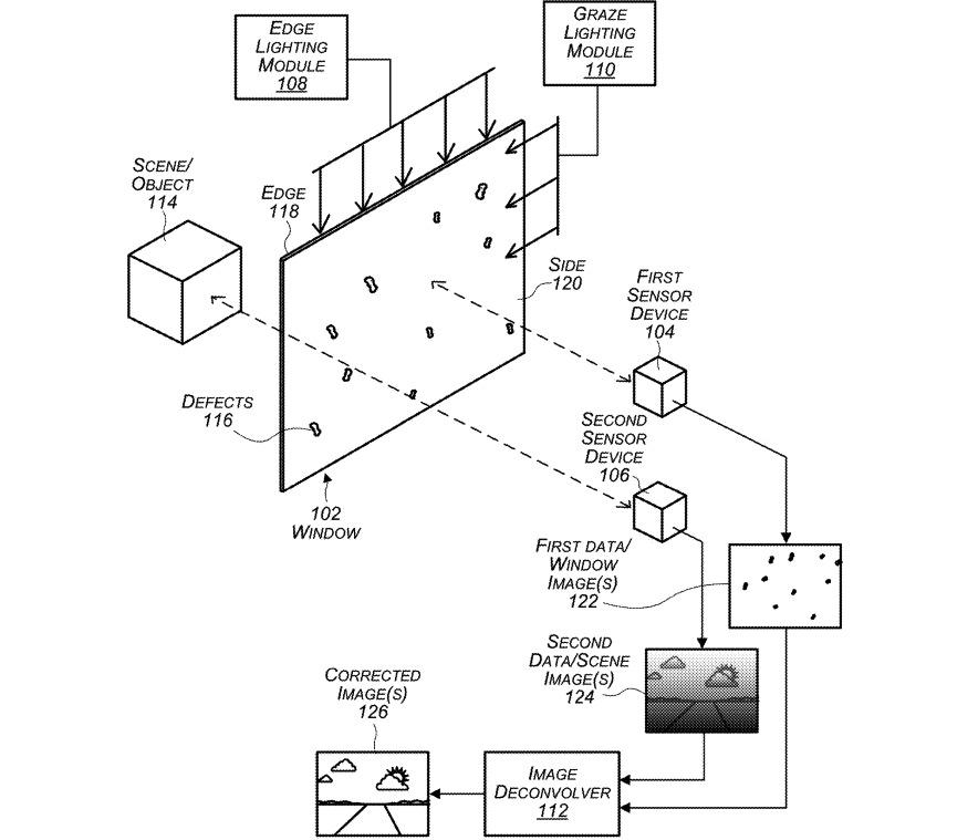 Múltiples sensores de imágenes en el automóvil y módulos de luz podrían ayudar a detectar grietas y problemas en las ventanas.