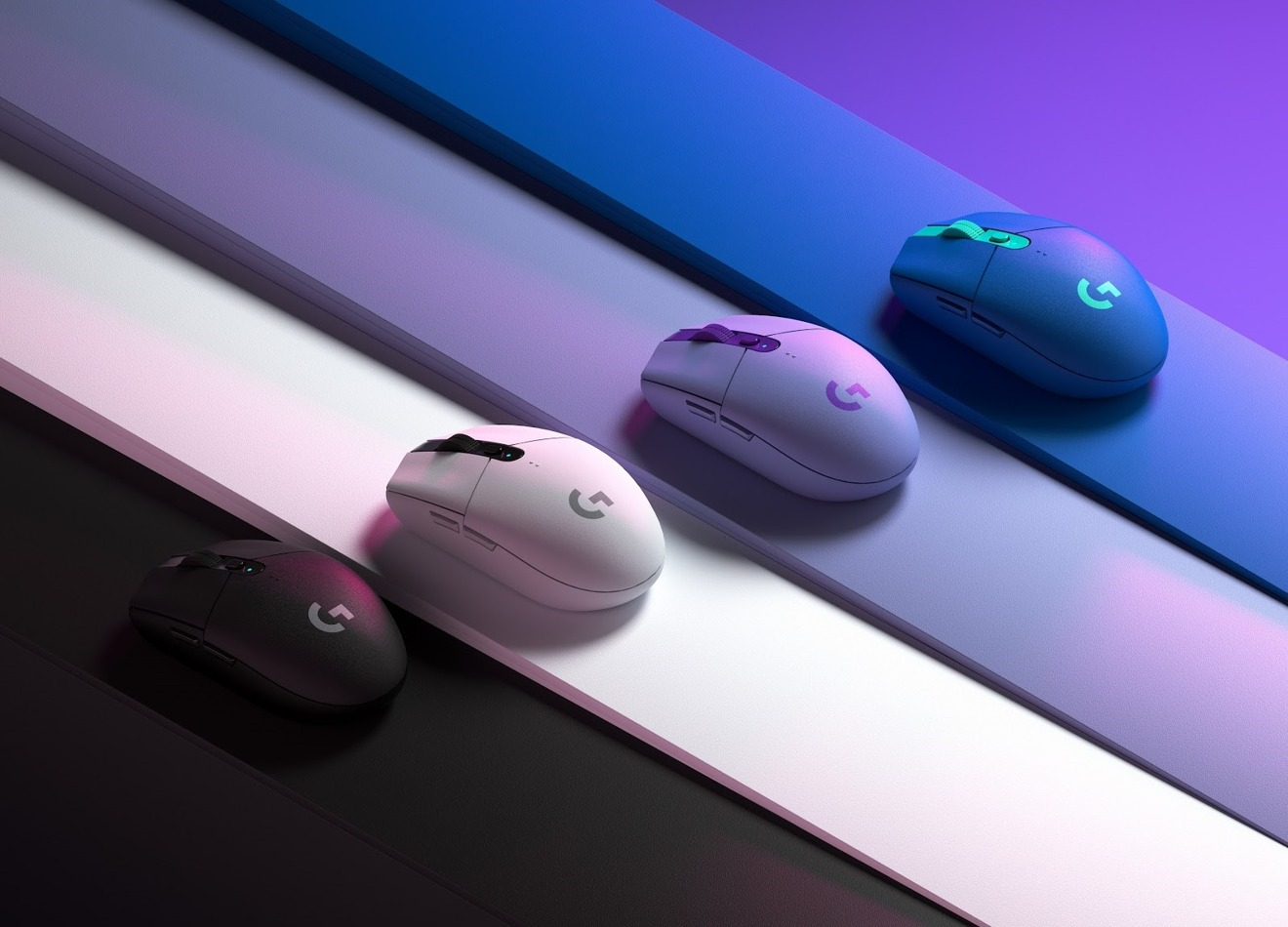 El mouse inalámbrico para juegos G305 ahora está disponible en azul y lila junto con blanco y negro