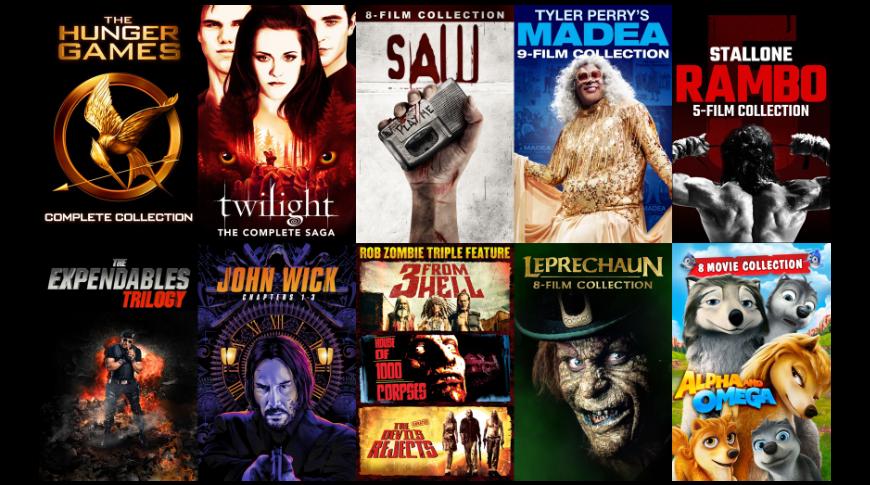 Ofertas de paquetes de películas