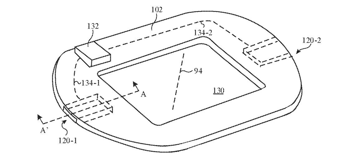Apple  visualiza la capa como un bucle, para no interferir con el sensor de frecuencia cardíaca.