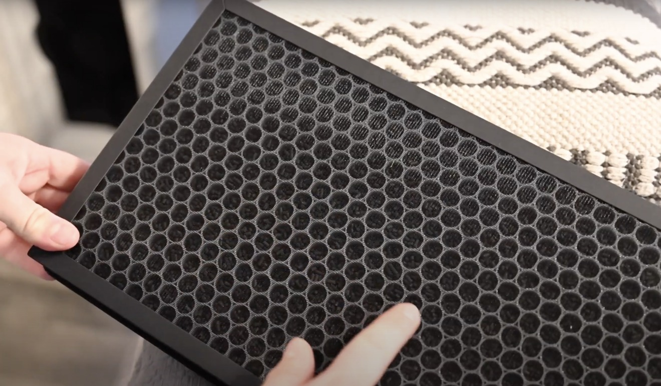Carbón activado en el filtro purificador de aire VOCOlinc PureFlow