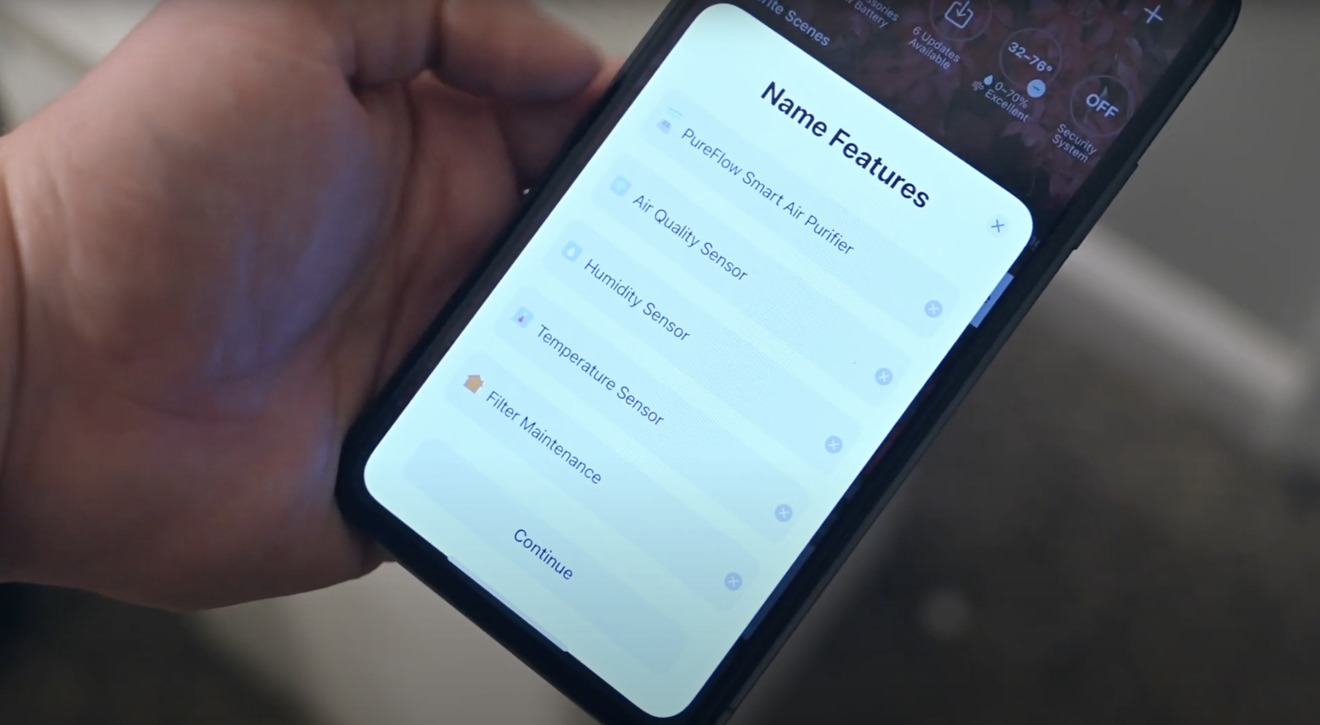 Sensores HomeKit en la aplicación Home