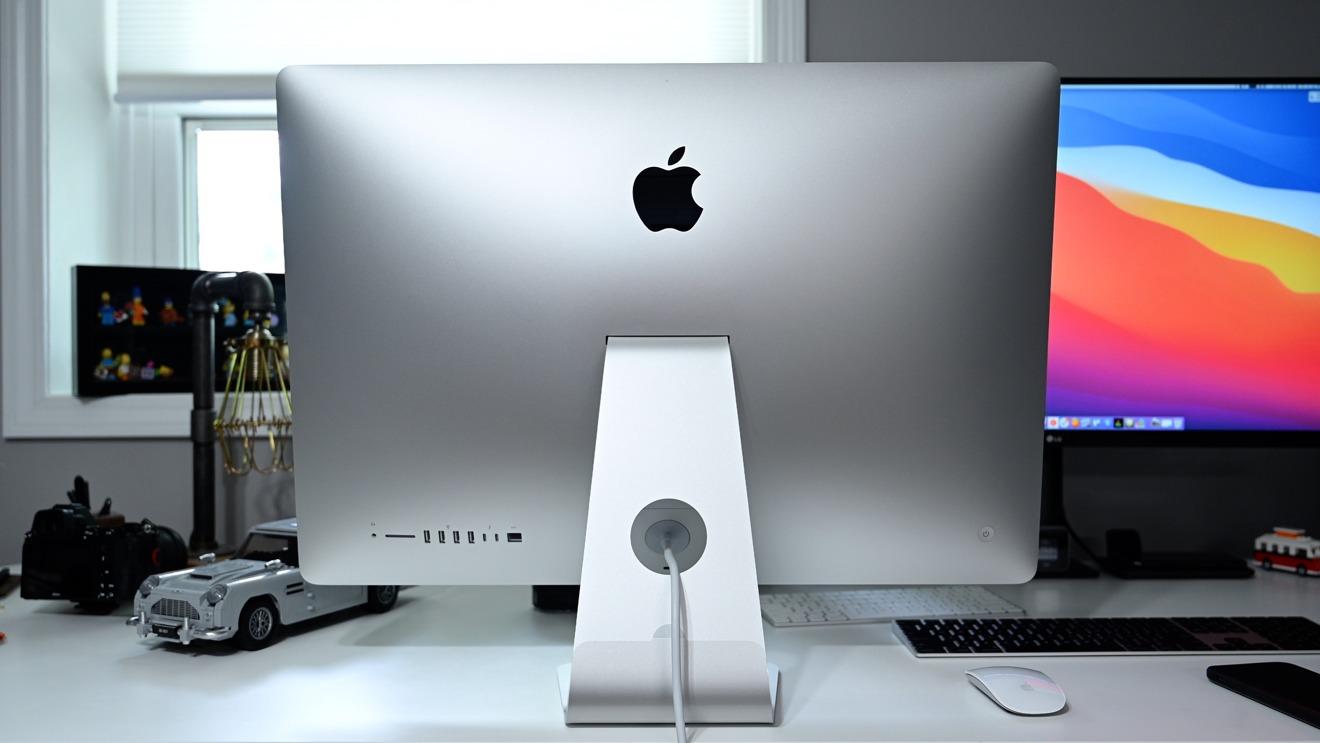 La parte trasera del iMac 2020 de 27 pulgadas