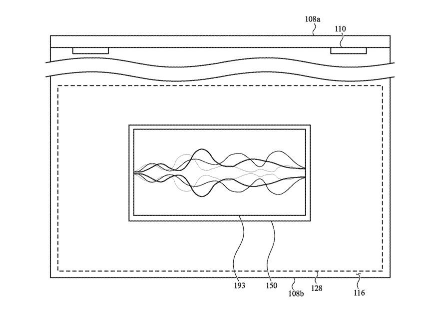 Detalle de la patente que muestra que Siri podría mostrarse en el trackpad