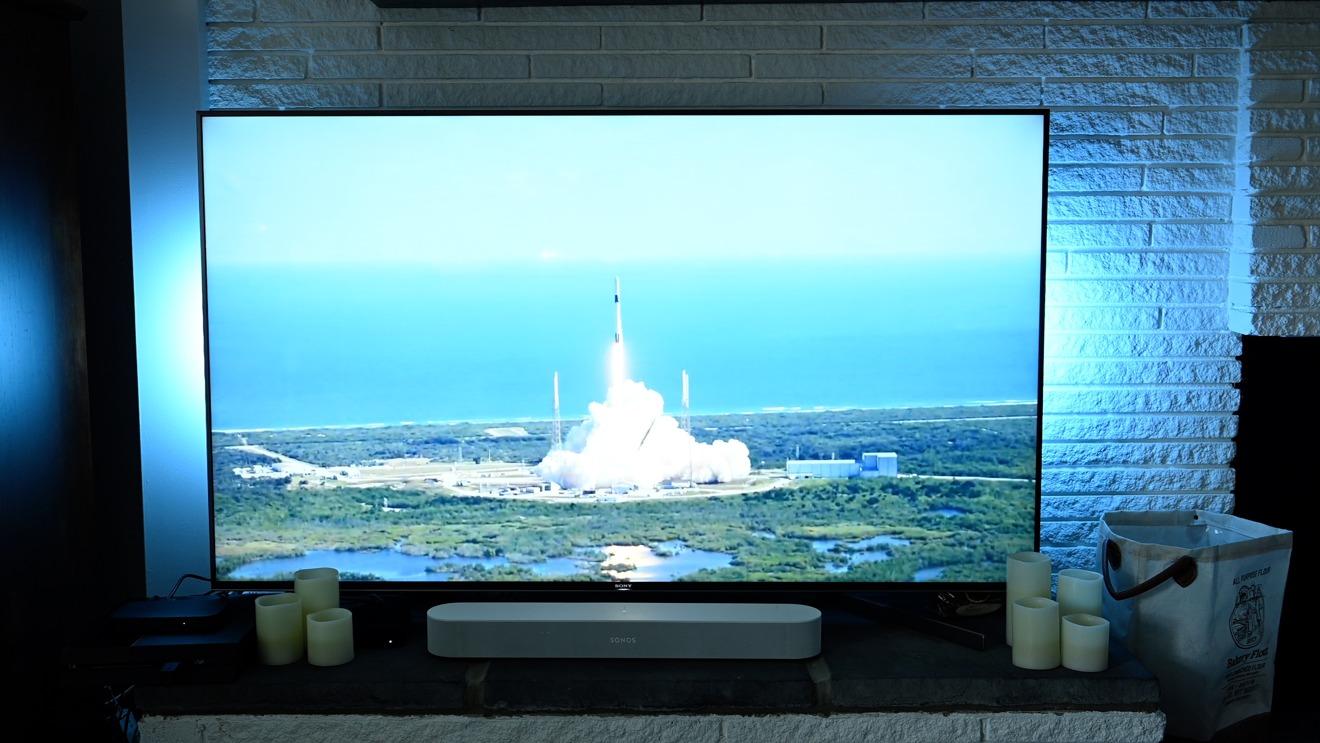 Observando el lanzamiento de un cohete de la NASA con Hue Sync