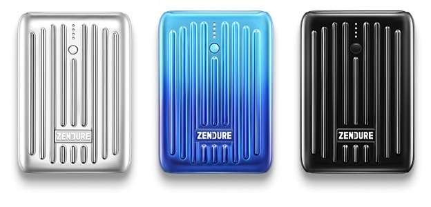 Zendure SuperMini en plateado, negro y Blue Horizon