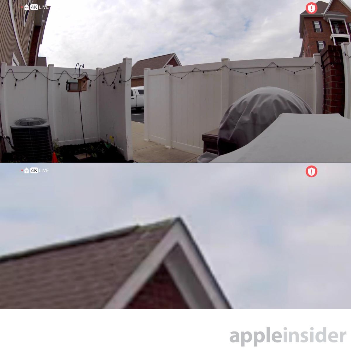 Arlo Ultra en 4K: gran angular (arriba) y zoom digital 12X (abajo)