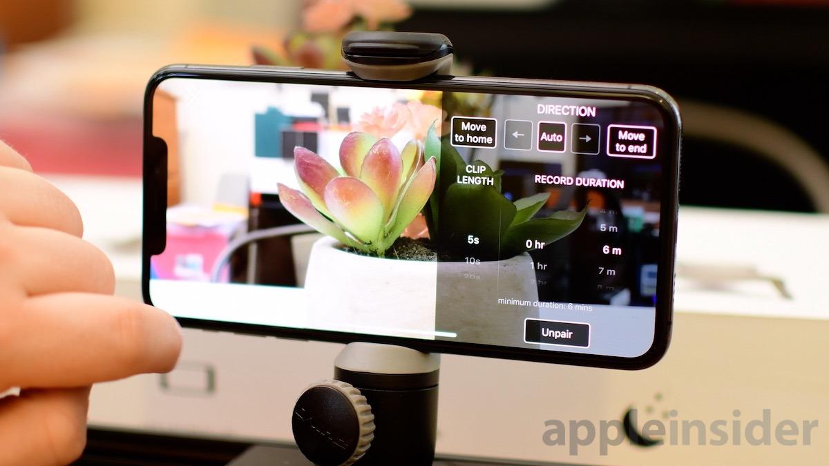 Configuración de ROV Slider en iPhone