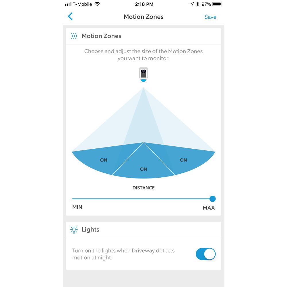 Aplicación Ring para iPhone