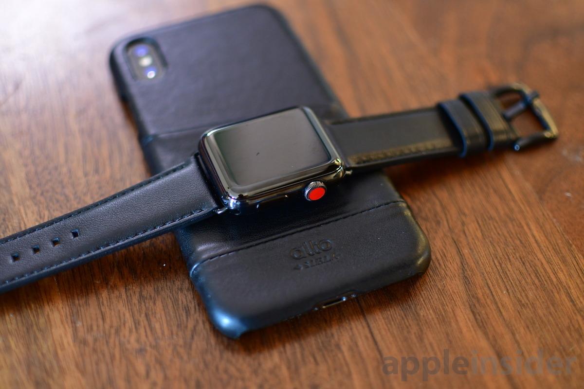 Alto Cuervo Apple Watch banda y estuche