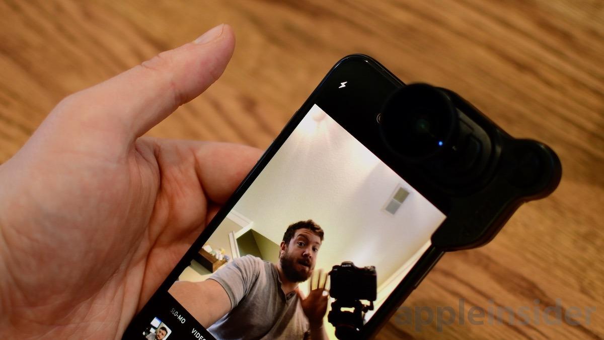 Cámara Selfie Olloclip para iPhone X