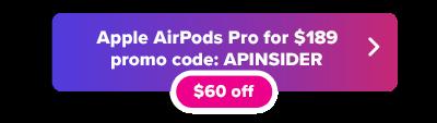 Apple  Botón de código promocional de AirPods