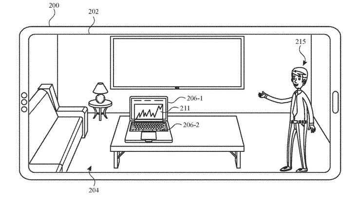 Detalle de la patente que muestra un Apple Store Personal Shopper demostrando en su hogar