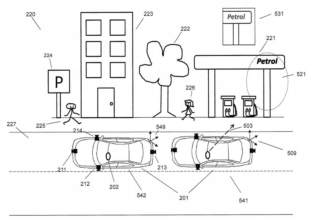 La patente sugiere que la mirada de un usuario podría indicarle a las cámaras externas dónde fotografiar.