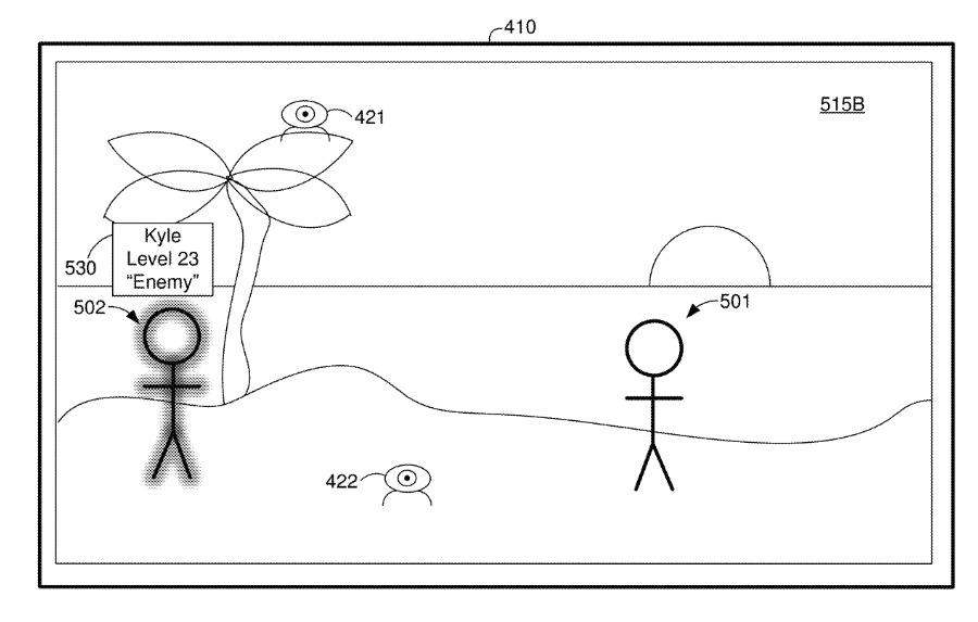 Detalle de la patente.  Las figuras 501 o 502 podrían excluirse del entorno de la CGR.