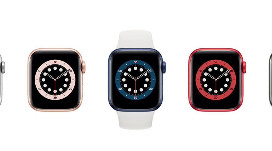Apple Watch  Serie 6 se muestra en el Apple Watch Estudio