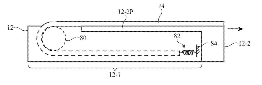Detalle de la patente que muestra un método de carcasa con una pantalla deslizable