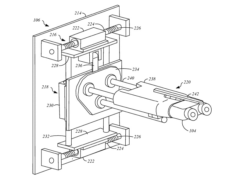 El enchufe de carga podría desplazarse hacia los lados y verticalmente para coincidir con el enchufe del automóvil.