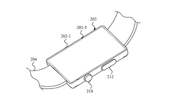 Detalle de la patente que muestra cómo los sensores SMI también podrían usarse en la parte posterior de un Apple Watch
