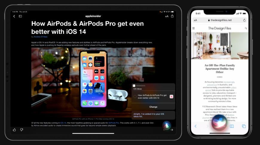 Interfaz de usuario compacta con Siri