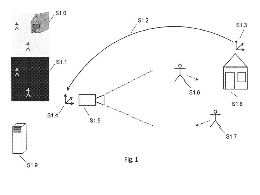 Detalle de la patente que muestra un método de uso de imágenes térmicas para ayudar a la RA