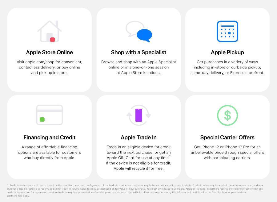 Apple  Las tiendas ofrecen nuevas opciones a la hora de comprar dispositivos.  (Fuente: Apple)