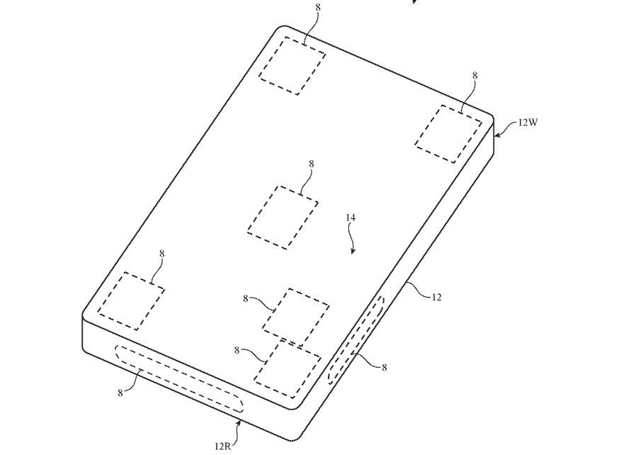 Las antenas para mmWave ya están ubicadas en varios lugares en un iPhone.