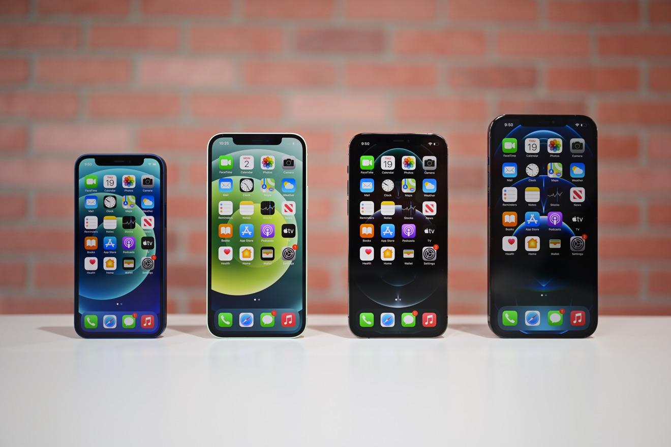 iPhone 12 tamaños de alineación