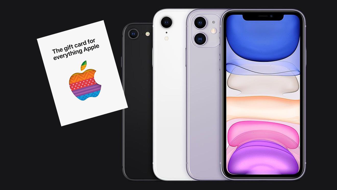 Apple  ofrece una tarjeta de regalo de $ 50 con compras selectas de iPhone